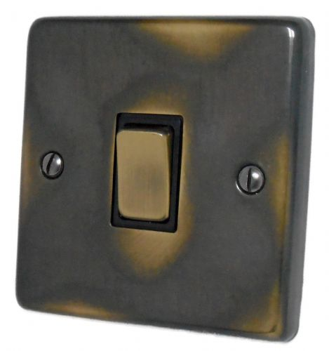 G&H CAN301 Standard Plate Polished Aged Brass 1 Gang 1 or 2 Way Rocker Light Switch